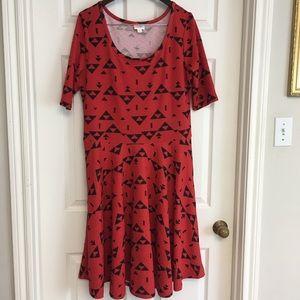 LuLaRoe Nicole Dress Geometric Southwest Plus 3X